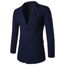 Men's British Dark Blue Suit Jacket