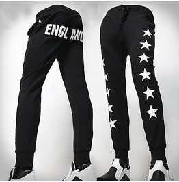 Men's England Stars Printed Sports Pants Jogger Pants