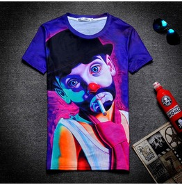 On Sale 3 D Character Print Women/Men T Shirt