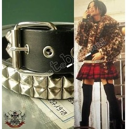 Hi Quality Rock Star Nana Punk 2 Row Metal Stud Unisex Belt 32 42