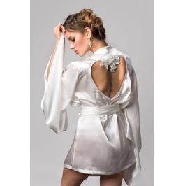 Alexina Bridal Ivory Silk And Embroidery Triangle Soft Bra, Bespoke Crochet
