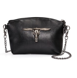 Vintage Metal Cow Head Shoulder Handbag
