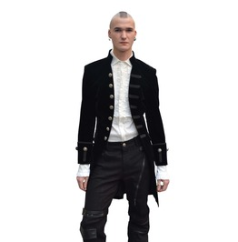 Black Alternative Gothic Coat For Men