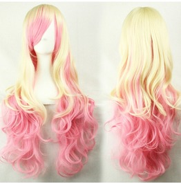 X X Strawberry Milk Xx Long Pink And Blonde Kankelon Synthetic Scene Wig