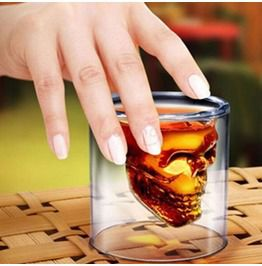 Skull Head Shot Glass Drinking