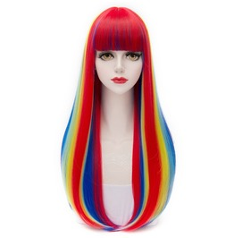 X X She's A Rainbow Xx Long Kankelon Synthetic Scene Wig