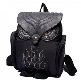 X X Insomniac Xx Black Owl Back Satchel Bag