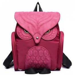 X X Insomniac Xx Pink Owl Back Satchel Bag
