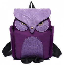 X X Insomniac Xx Purple Owl Back Satchel Bag