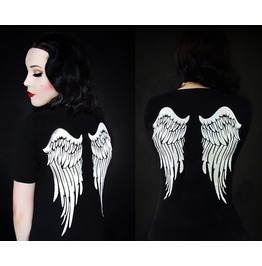2016 New Fashion Angel Wing Print Women Tops T Shirts