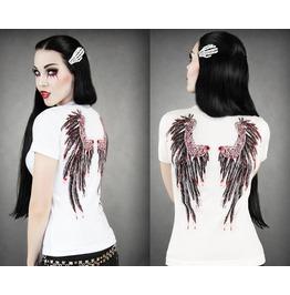 2016 New Fashion White Pattern Print Women Tops T Shirts