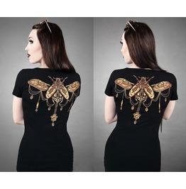 2016 Fashion Black Vintage Pattern Print Women Tops T Shirts