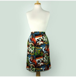 """Pen & Pencil"" Horror Monsters Skirt"
