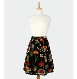 Viva Frida Black Pleated Skirt