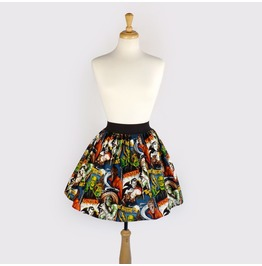 """""""Lindy"""" Old Hollywood Monster Pleated Skirt"""