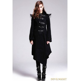 Black Gothic Punk Skull Jacket For Women