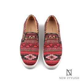Natives Pattern Red Comport Slip On, Shoes 204