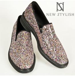 Glittering Mirror Ball Dance Floor Slip On, Shoes 201