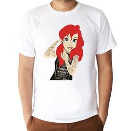 Ariel Tattoo Cartoons T Shirt Unisex Size S,M,L