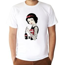 Snow White Tattoo Cartoons T Shirt Unisex Size S,M,L