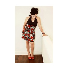 Pinup Skull Roses Rockabilly Dress