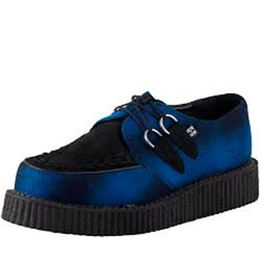 Size 12 Tuk Black Blue Creeper Shoe Retro Rockabilly Creepers $9 To Ship