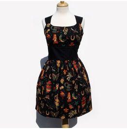 """""""Riding Shotgun"""" Tattoo Art Black Dress"""