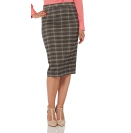 Voodoo Vixen Pia Plaid Pencil Skirt