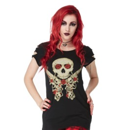 Jawbreaker Clothing Western Cowboys Guns And Roses Top