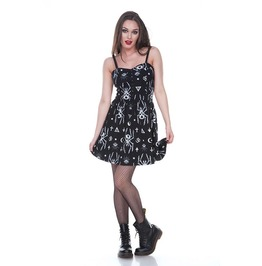 Jawbreaker Clothing Skeleton Spider Skater Dress