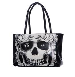 Jawbreaker Clothing Women's Black Grinning Skull Handbag