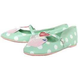 Iron Fist Shoes Mint Green Cupcake Princess Flats