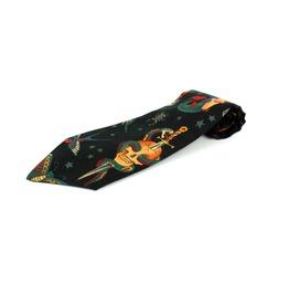 Rockabilly Tattoo Black Necktie, Men's Tie