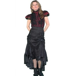 Three Way Tiered Skirt Black Lk03060