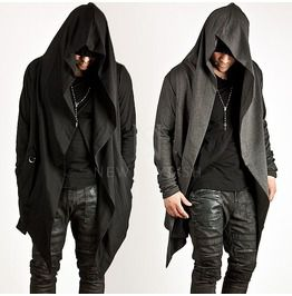 Avant garde unbeatable style diabolic hood cape cardigan 69 cardigans and sweaters
