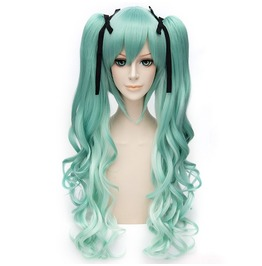 X X Beyond Wonderland Xx Ombre Pony Tail Clip On Long Scene Wig