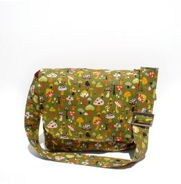 Green Mushroom Messenger Bag