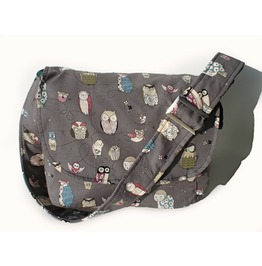 Gray Owls Messenger Bag