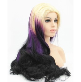 X X Pretty Rave Girl Xx Long Scene Wig Lace Front Synthetic