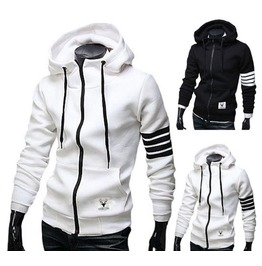 Men's Black / White Color New Hoodies Men Hood Sweatshirts