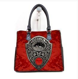 Ouija Mystic Eye Planchette Barrel Style Hand Bag