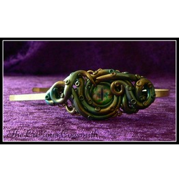Green And Gold Tones Cthulhu Themed Tentacle Headband