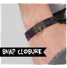 Leather Wristband, Tree Of Life Bracelet, Celtic Leather Bracelet
