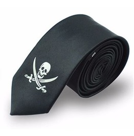 Printed Skull Necktie V9