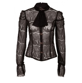 Gothic Alternative Steampunk Long Sleeve Lace Top Victorian Jawbreaker