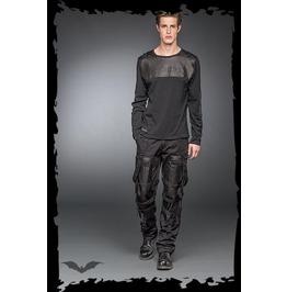 Men's Punk Industrial Long Sleeved Goth Metal Rocker Shirt