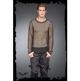 Mens Punk Industrial Long Sleeved Goth Mesh Fishnet Shirt $9 To Ship