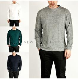 Basic Neat Banded Hem Knit Round Tee 448