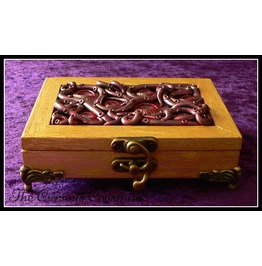 Lovecraft Inspired Jewellery Box With Red And Black Tentacle & Eye Design