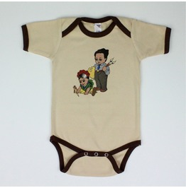 Frida And Diego Onesie, Brown
